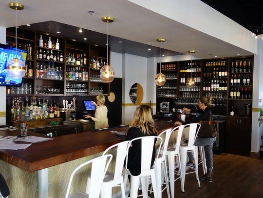 The bar at Lamp Cafe