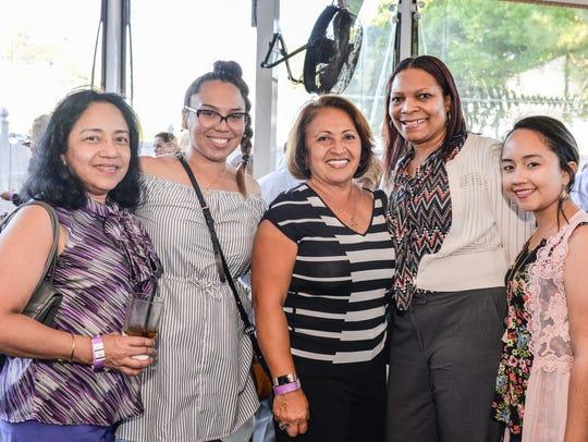 Jackie Garcia, left, Elena Hayle, Patricia King,  Angela