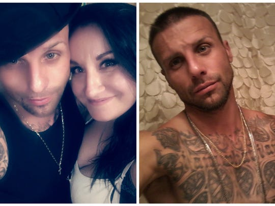 Jamison Layne Townsend, 35, of Missouri, and her boyfriend, Josh Garcia, pictured together on left, and Garcia on right.