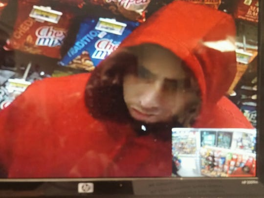 Video surveillance of the suspect in connection to the robbery.