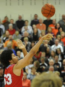 Lincoln's #53 Malik Dunn shoots from the outside in this file photo.