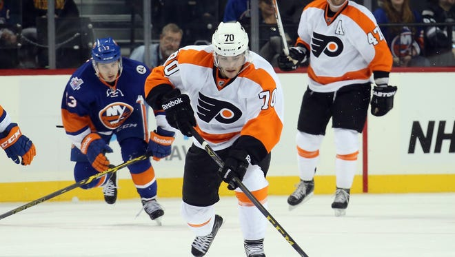 Danick Martel didn't score, but still had a good showing in a four-game stint with the Flyers.