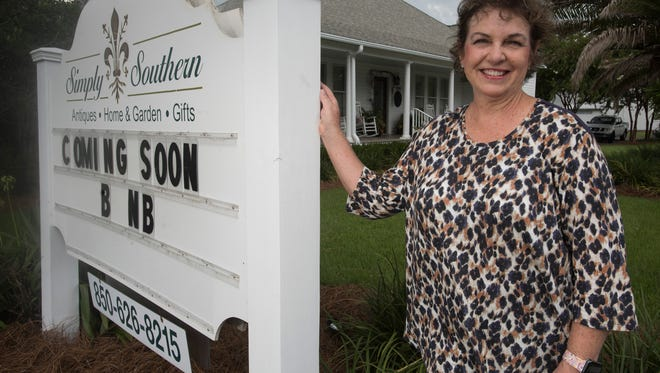 Becky Smith has listed her former gift shop, Simply Southern, as an Airbnb in downtown Milton. She says the Airbnb is the first of its kind in the historic district.