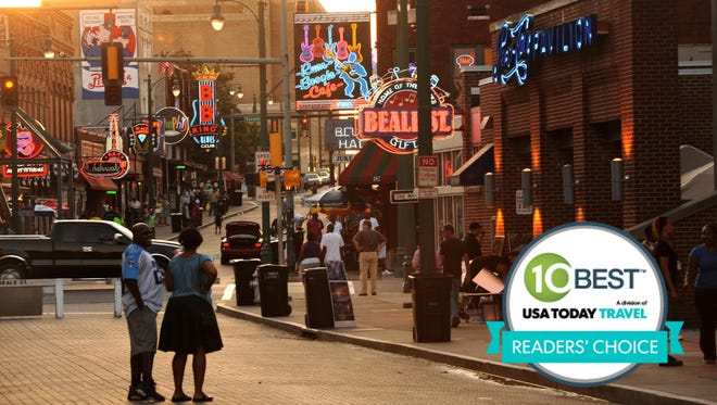 Located in the heart of downtown Memphis with dozens of nightclubs, restaurants, and retail shops, Beale Street was voted the most iconic American street in 10Best.com's Readers' Choice contest.