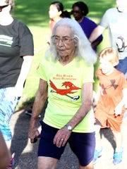 Thelma Pepper at the Red River Road Runners fun run