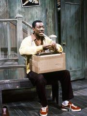 "Season 8: Eddie Murphy as Mr. Robinson in the ""Mister Robinson's Neighborhood"" skit on May 13, 1983."