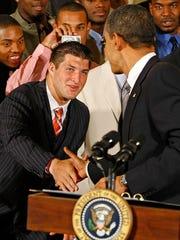 Obama Hosts University Of Florida Football Team At White House
