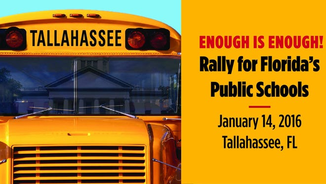 Between 2,500 to 3,000 teachers and their supporters will participate in a rally for education in Tallahassee today with the Florida Education Association.