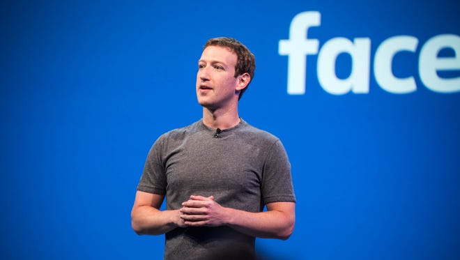 Facebook founder and CEO Mark Zuckerberg speaks at a tech conference in April. The social media site announced changes to its News Feed this week.