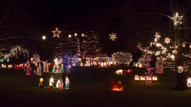 11943 Mason Road in Iosco Township, the home of Kevin and Naomi Ball, is one of over 15 to be featured in this year's Holiday Light Tour.