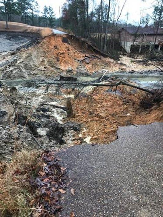 Piney Woods dam break