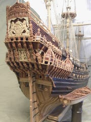Past entries to the Midwestern Model Ships and Boats Contest and Display have included this Vasa warship from 1628 that took nearly eight years to complete.