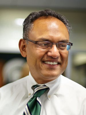 Sanjay Gupta, dean of Michigan State University's Eli Broad College of Business, pictured in 2014.