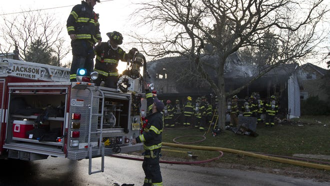 Jackson firefighters respond to a call on Wyoming Drive in January 2015.