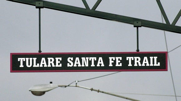 The Tulare Santa Fe Trail, which runs east-west through central Tulare.
