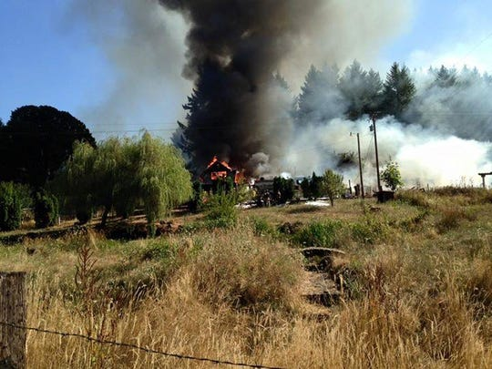 A rural-Scio house fire on Rodgers Mountain Loop