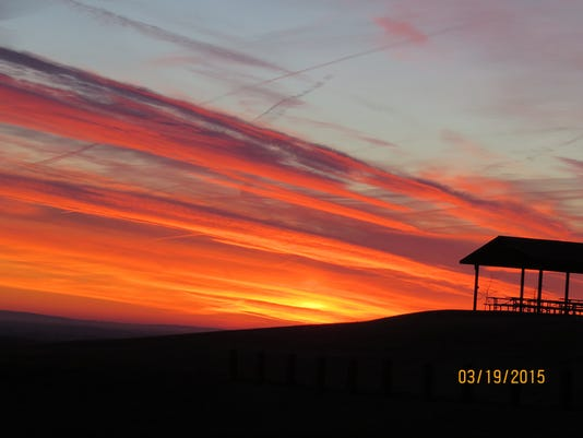 """Bill Moul of York submitted this photo to the YDR Nature and Scenery gallery Mar. 19. Moul writes, """"The sky just before the Sun came up from Sam Lewis State Park.""""  Submitted"""