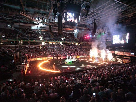 The PBR action is about to kick off in this photo from a previous event.