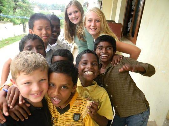 Jennifer Hillman-Magnuson's children play with their