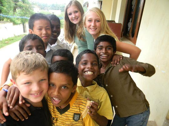 """Jennifer Hillman-Magnuson's children play with their friends in Chennai, India, in 2010. The family's move and adventurous parenting overseas are the subject of Jennifer's memoir, """"Peanut Butter and Naan."""""""