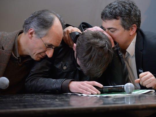 Charlie Hebdo, editor in chief  Gerard Briard, left,