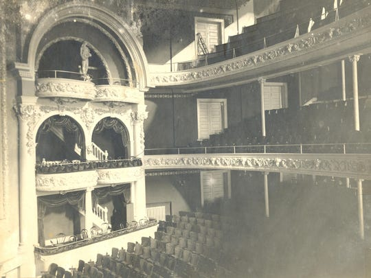The interior of the Lyceum Theater in Elmira is shown
