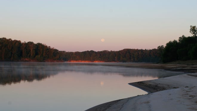Moonrise over the Apalachicola. The river is listed as America's most endangered.