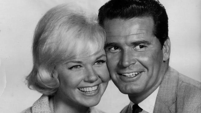 """James Garner made two films with Doris Day in 1963,  """"The Thrill of it All"""" and  """"Move Over, Darling!"""""""