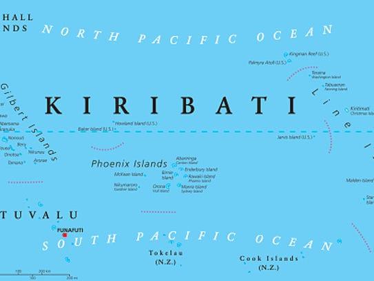 Kiribati Political Map