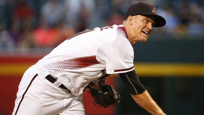 Diamondbacks starter Zack Greinke came within one out of pitching a complete game Monday night against the White Sox at Chase Field. The ace right-hander struck out 12 and allowed just one run on four hits and a walk and won his sixth game this season. at Chase Field in Phoenix, Ariz. May 22, 2017.