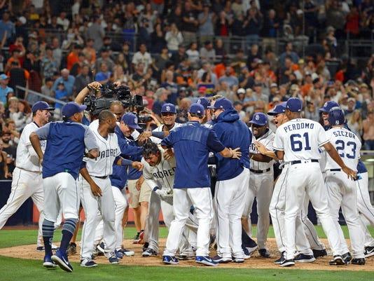USP MLB: SAN FRANCISCO GIANTS AT SAN DIEGO PADRES S BBN SD SF USA CA