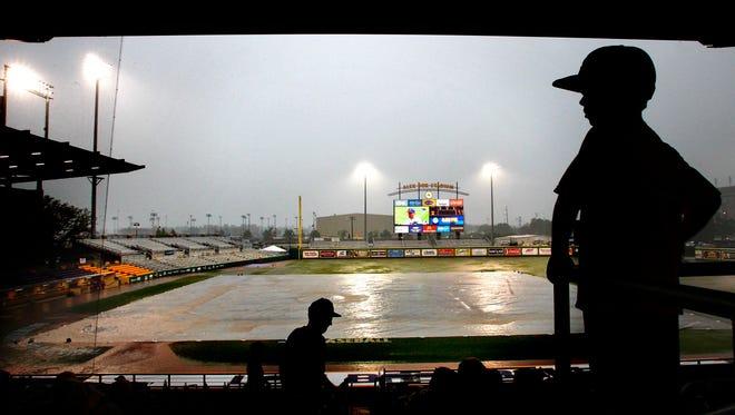 Rain has postponed the LSU game against Alabama on Friday.