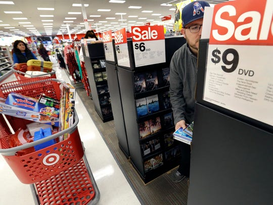 Paul Poirier shops at a Target store, in Wilmington,