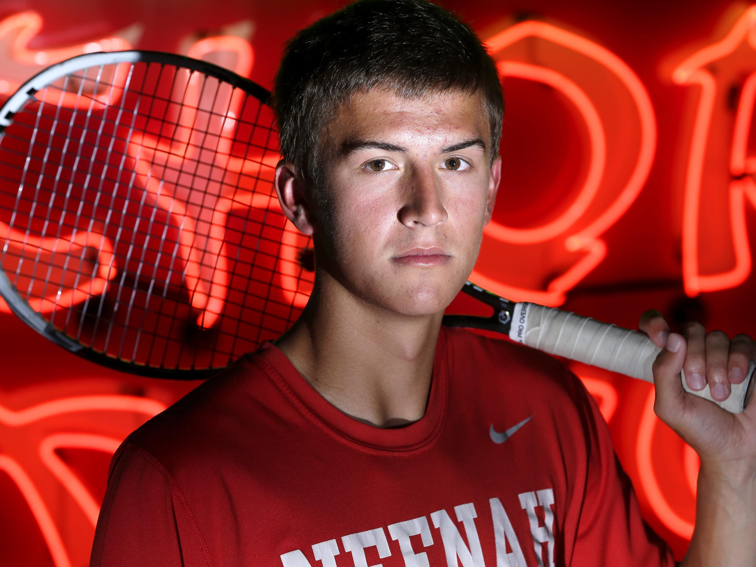 The Post-Crescent Media prep boys' tennis player of the year is Neenah's Ryan Risgaard, who was photographed at the History Museum at the Castle in Appleton.