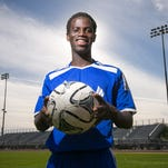 Boys soccer player Musa Morris, 17, at Sandra Day O'Connor High in Phoenix on Wednesday, February 18, 2015.