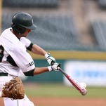 Freshman infielder Kory Young makes contact at the plate during Michigan State's 4-2 win over Michigan on Tuesday at Detroit's Comerica Park