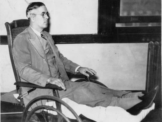 George W. Barrett was still recovering from gunshot wounds to both knees when he was on trial for the murder of Agent Nelson Klein. Barrett became the first person executed for killing a federal agent. 7-14-2000        George Barrett was hung at the Marion County Jail on March 241936. This is a photo of George Barrett.