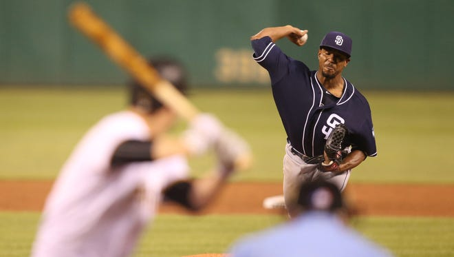 Edwin Jackson has pitched much better since he was traded to the San Diego Padres and moved to the starting rotation.