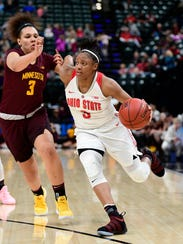 At Ohio State, Kelsey Mitchell finished as the NCAA's