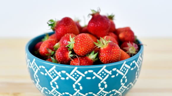 These strawberries are part of a CSA share from Prescott's Patch.
