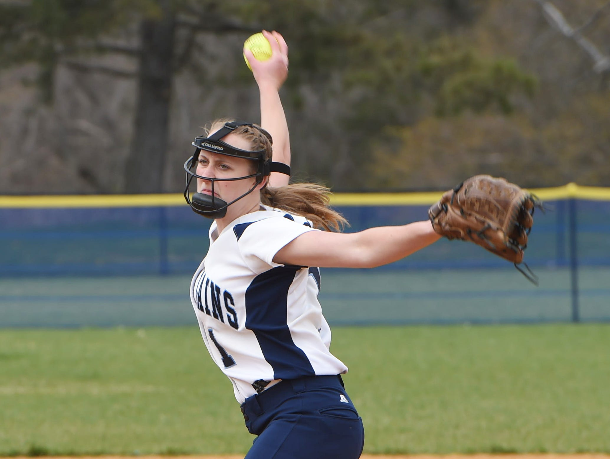 Pine Plains' Alex McKenzie winds up a throw during Monday's game against Millbrook.