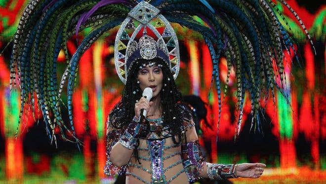 Cher performs in concert at Joe Louis Arena in Detroit on Saturday, April 12, 2014.