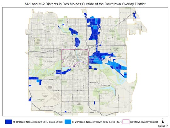 Third revision of zoning map showing where fireworks