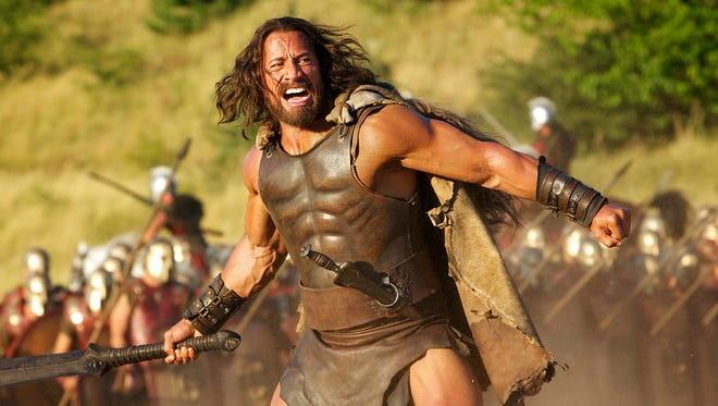 "Dwayne Johnson in the title role in a scene from the motion picture ""Hercules."""