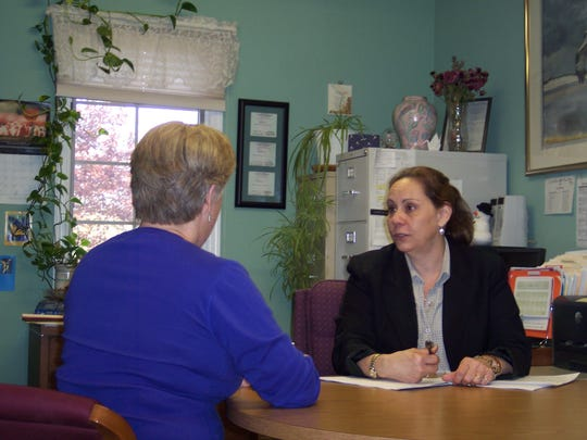 Helen McIntosh, Clinical Director for Anderson House located in Whitehouse Station during a counseling session.