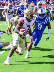 Florida State freshman running back Cam Akers has already accumulated 379 rushing yards in only five games this season.