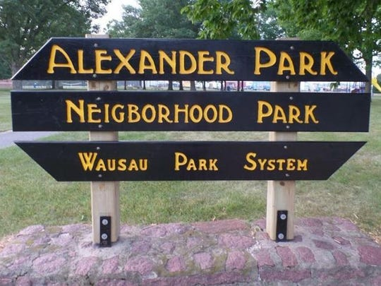 A photo of a misspelled Wausau Park System sign posted on the Facebook group, Wausau's Southeast Side, on July 22, 2015.