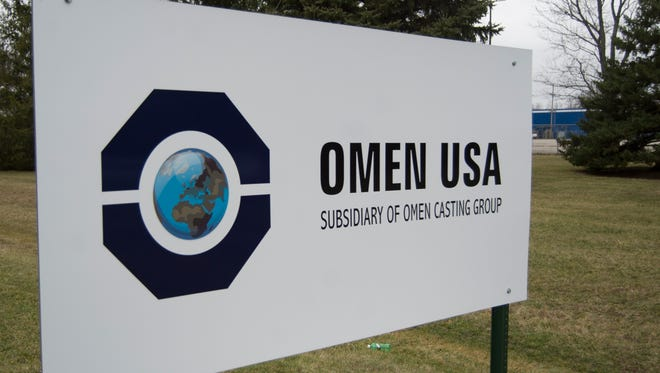 A sign for OMEN USA is seen along Rich Road in Richmond, Ind. on Tuesday, Jan. 24, 2017.