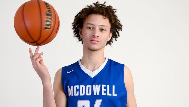 McDowell's Skyler McKinney.