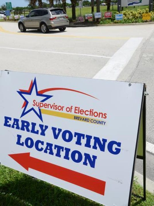 Early in-person voting begins Monday at 10 Brevard sites